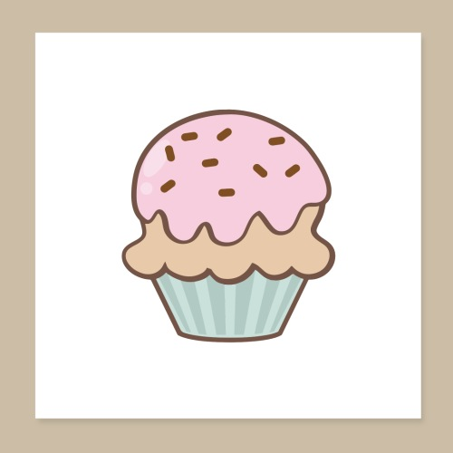 Poster Muffin - Poster 20x20 cm
