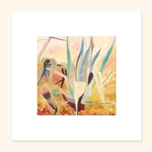 agaves jaunes - Poster 20 x 20 cm