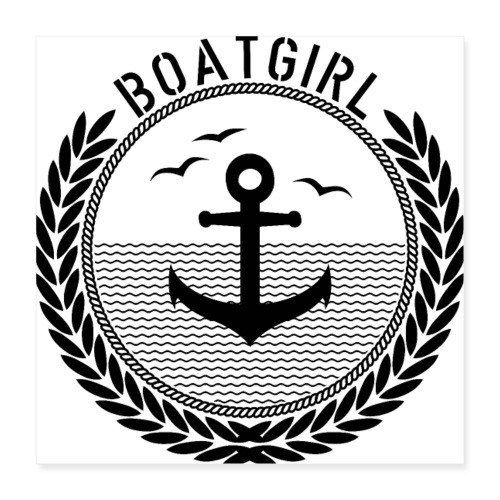 BoatGirl - Anchor - Poster 40x40 cm