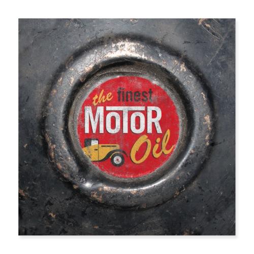 motoroil vintage - Poster 40x40 cm