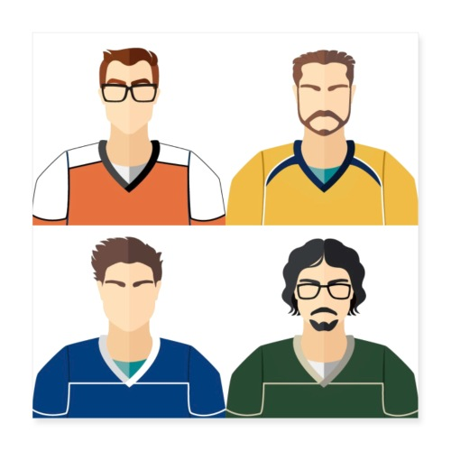 Meet The Team - Poster 40x40 cm