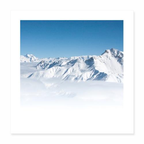 Vallée Alpine - Poster 40 x 40 cm