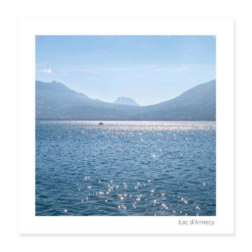 Lac d'Annecy - Poster 40 x 40 cm