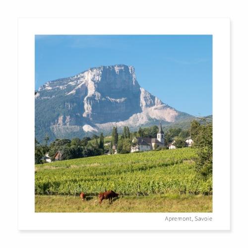 Village d'Apremont - Poster 40 x 40 cm