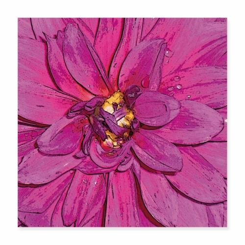 PinkFlower - Poster 40x40 cm