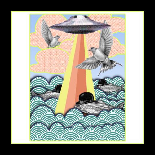 flamingo poster - Poster 40 x 40 cm