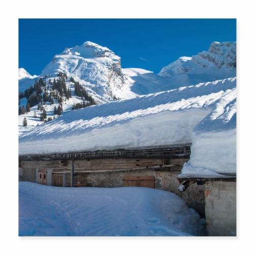 Chalet de montagne dans les Aravis - Poster 40 x 40 cm