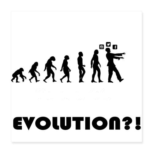 Evolution social media - Poster 40x40 cm