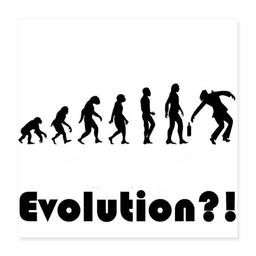 Evolutionstheorie Betrunkener - Poster 40x40 cm