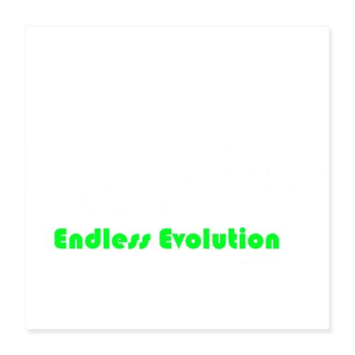 Endless Evolution weiss - Poster 40x40 cm