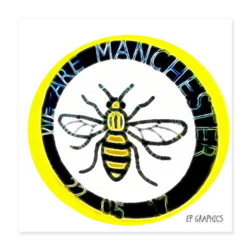 Manchester Bee - Poster 16 x 16 (40x40 cm)