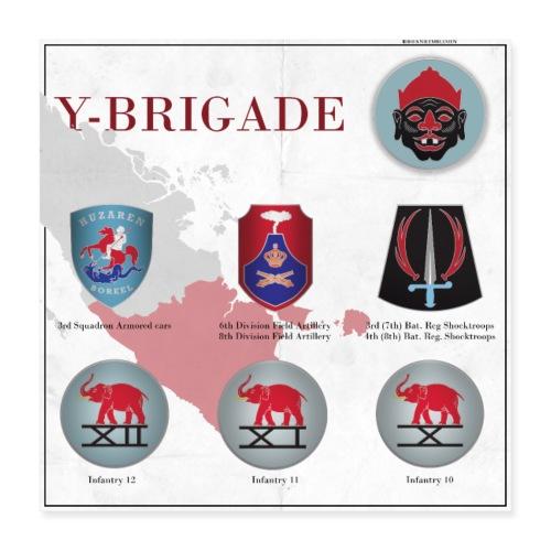 Y-Brigade - Poster 40x40 cm