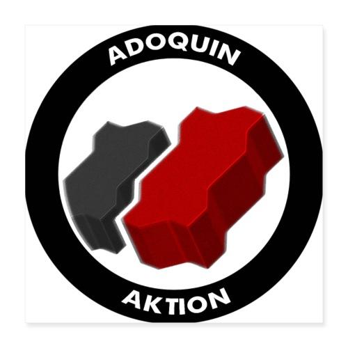 Adoquin Aktion - Póster 40x40 cm