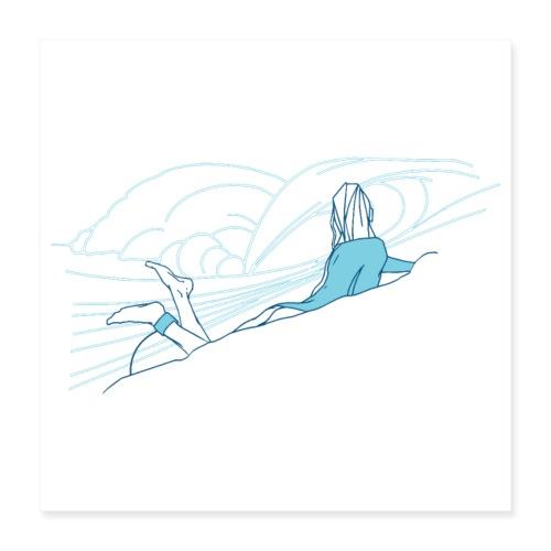 Surfer girl - Poster 40 x 40 cm