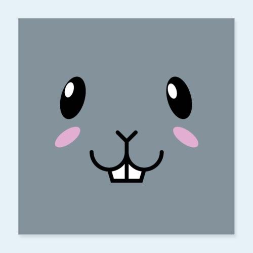 Conejo bebé (Cachorros) - Póster 40x40 cm