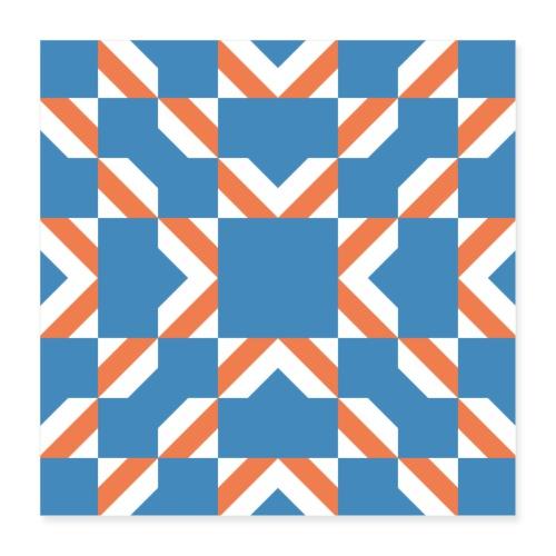 Blue Orange - Poster 40x40 cm