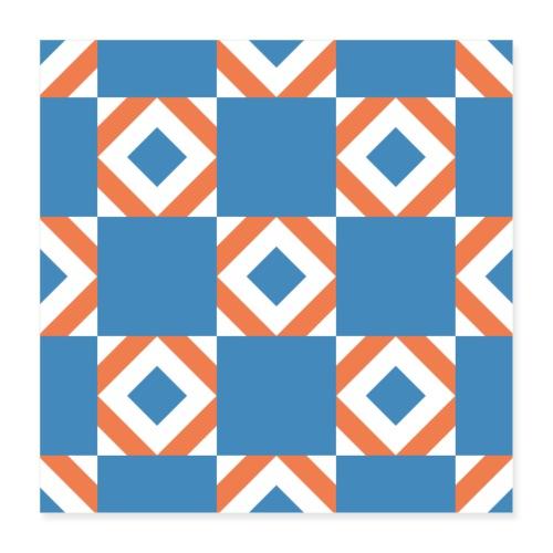 Blue Orange 2 - Poster 40x40 cm