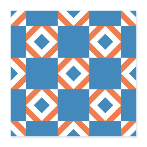 Blue Orange 2 - Poster 40x40 cm