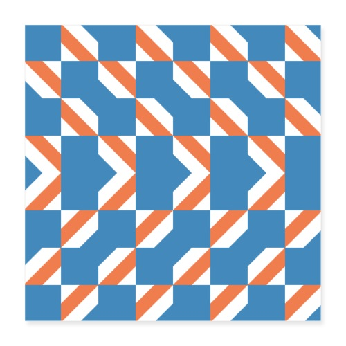Blue Orange 4 - Poster 40x40 cm