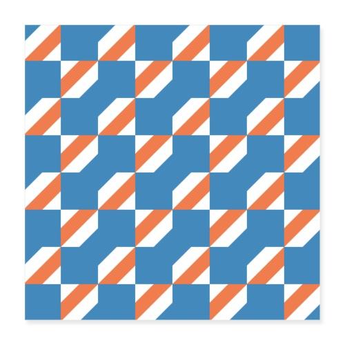 Blue Orange 3 - Poster 40x40 cm