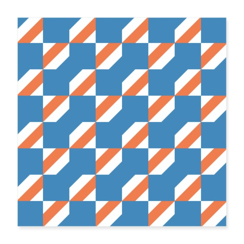 Blue Orange 3 - Poster 40x40 cm