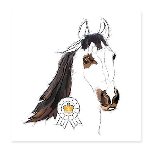 Das Pferd (Poster) - Poster 40x40 cm