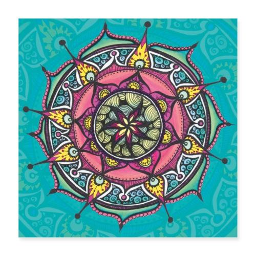 SoulArt Mandala Freude - Poster 40x40 cm