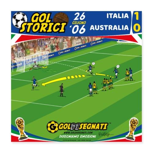 POSTER ITA-AUS 1-0 Il Gol del N10 allo scadere - Poster 40x40 cm