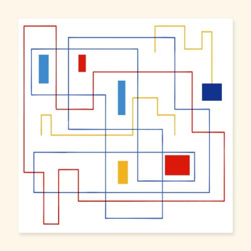 Daedalus Key - Poster 40x40 cm