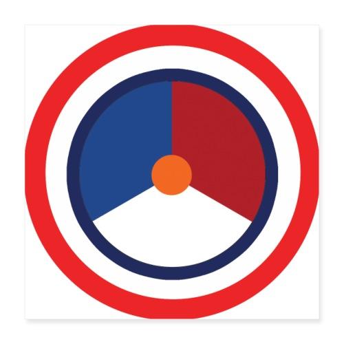 Nederland logo - Poster 40x40 cm