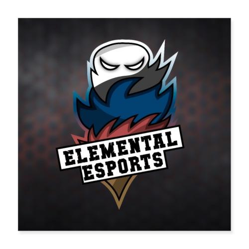 Elemental eSports | 2018 Poster Logo - Poster 40x40 cm
