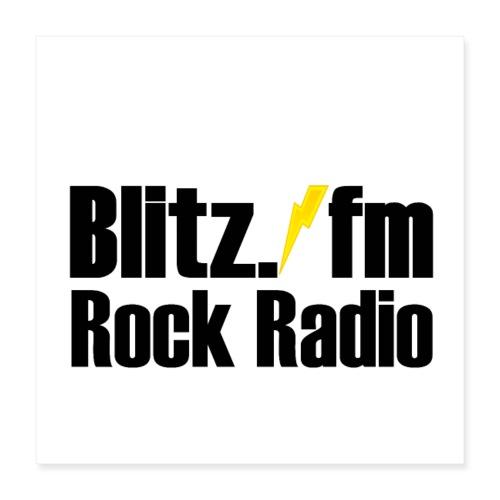 ROCK RADIO BLITZFM ✅ - Poster 40x40 cm