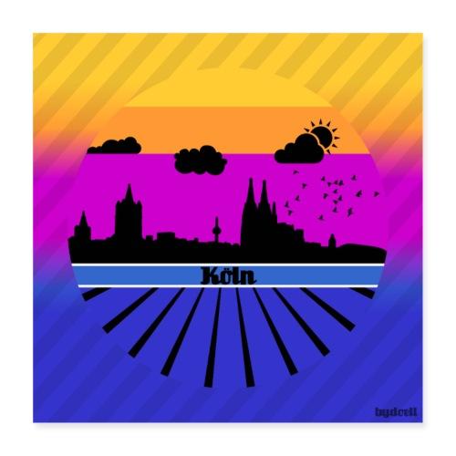 Köln Sommergefühle - Poster - Poster 40x40 cm