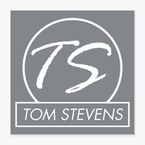 Tom Stevens Poster logo - Poster 40x40 cm