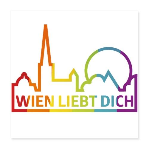 Wien Liebt Dich - Poster 40x40 cm