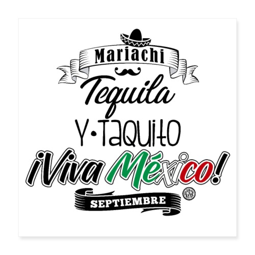 Tequila Taquito - Póster 40x40 cm