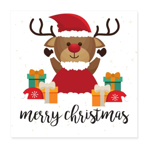 Merry Christmas - Poster 40x40 cm
