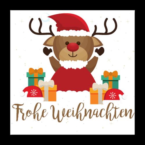 Frohe Weihnachten - Poster 40x40 cm