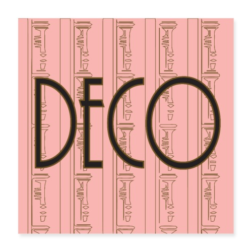 Deco Print Pink-Gold - Poster 16 x 16 (40x40 cm)