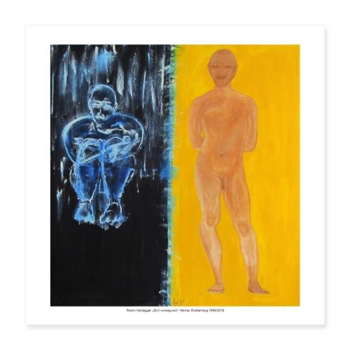 Martin Heidegger - Poster 40x40 cm