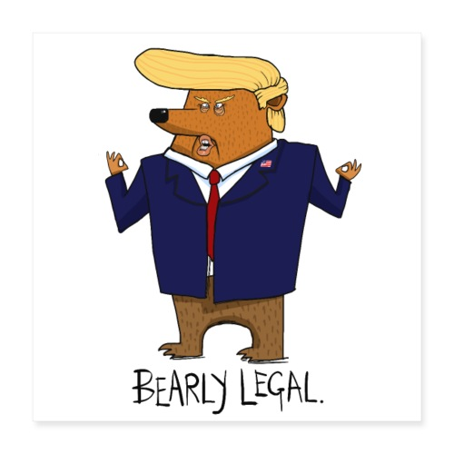 Donald Trump Funny Bear Gift - Poster 40x40 cm