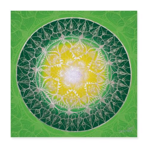 SoulArt Mandala Heilungs-Mandala - Poster 40x40 cm
