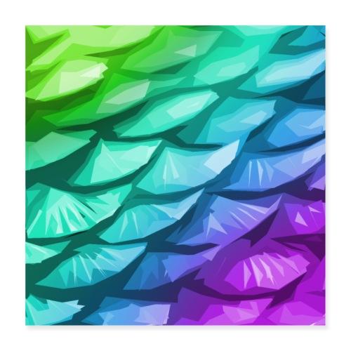 Mermaid tail - Poster 16 x 16 (40x40 cm)