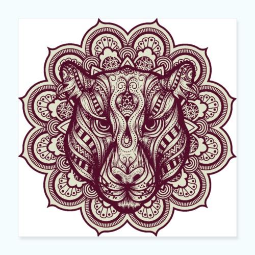 Mandala Tiger - Poster 16 x 16 (40x40 cm)