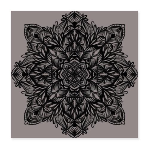 Naturbelassenes Mandala - Poster 40x40 cm
