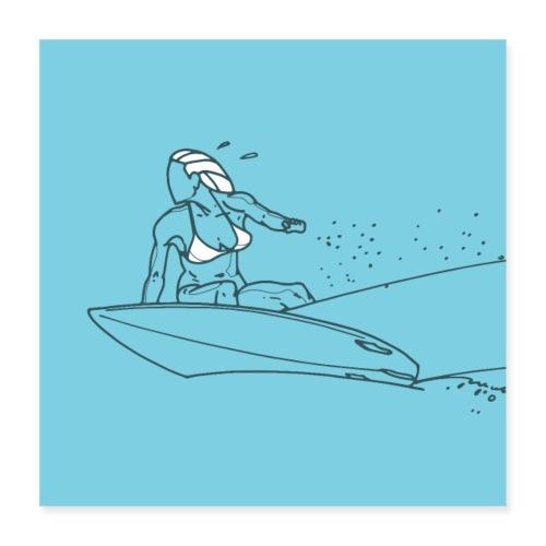 Surfeuse - Poster 40 x 40 cm