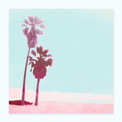 Pastel Beach Minimalism Modern - Poster 16 x 16 (40x40 cm)