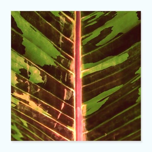 Bananas leaf watercolor - Poster 16 x 16 (40x40 cm)