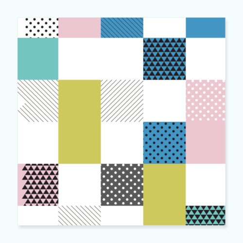 Abstract art squares - Poster 16 x 16 (40x40 cm)