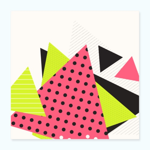 Neon geometry shapes - Poster 16 x 16 (40x40 cm)